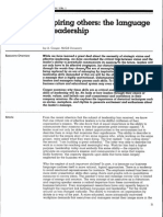 Inspiring Others the Language of Leadership