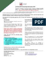 2015 Scholarship Form + Info