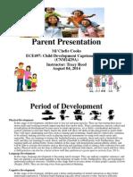 parent presentation week3 assignment ece497