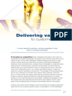 Mckinsey Quarterly - Delivering Value to Customers