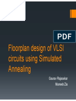 Floorplan design of VLSI