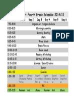 Updated Schedule 2014-15