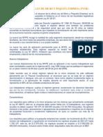 Alcances de La Ley de Micro y Pequeña Empresa (Pyme)
