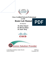 CCNP Route Manual