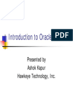 Introduction to Oracle RDBMS