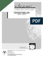 Lessentabellen 2014-2015