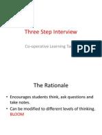 3 step interview