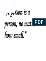 A Person is a Person