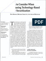 Risks to Consider When Purchasing Technology Based IP for Securitization