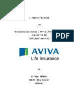 studyofrecruitmentselectionprocessinavivalifeinsurancebysaumyamehta-120912063059-phpapp01