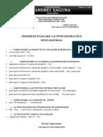 Criterii de Evaluare Practica Master