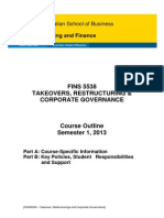 FINS5538 Takeovers Restructuring and Corporate Governance S12013