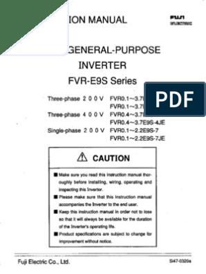 FUJI OLD MODEL INVERTER FVR E9S