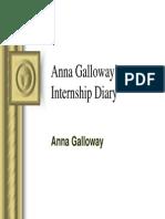 Anna Galloways Internship Diary