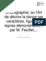 Feuillet, Chorégraphie Ou l'Art d'Écrire La Dance