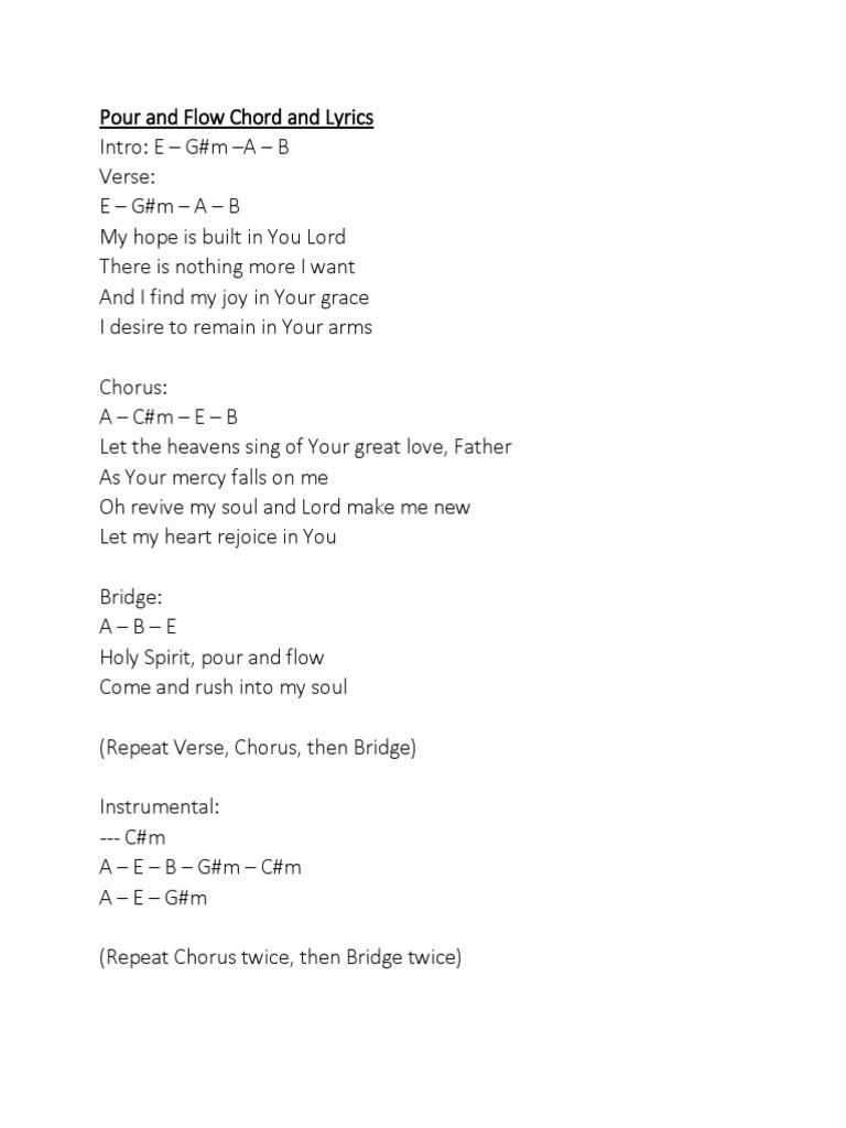 Fantastic Holy Spirit Chords In G Festooning Song Chords Images