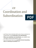 Coordination and Subordination
