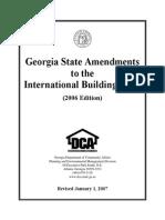 IBC 2007 Ga Amendments