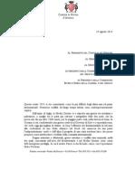 Lettera Al Governo Contro Rifornimeno Armi Iraq
