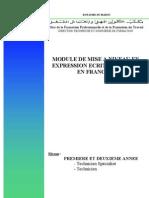 Module Mise à niveau en français-niveaux T et TS-ENG-FR