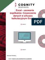 Cognity Kurs Excel - usuwanie duplikatów.pptx