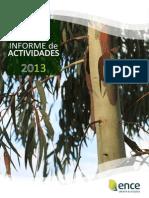 Ence. Informe de Actividades 2013.