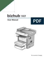 Bizhub 160f User
