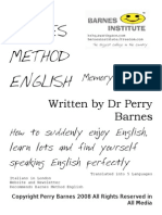 Barnes Method English @ Memory System Sistema Memoria