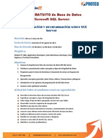 Taller GRATUITO de Base de Datos Microsoft SQL Server