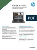 HP Elitebook 8770w Datasheet