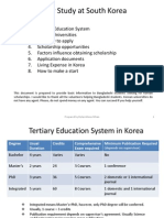 Higher Study in Korea