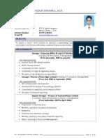 CV of Sahidur Rahman