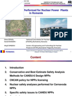 Safety Analysese for NPPs in Romania