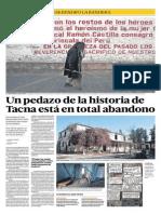 Un pedazo de la historia de Tacna está en total abandono