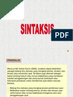 Bmm 3110 SINTAKSIS Nota Powerpoint