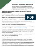 7 Formas de Usar o Perfil Pessoal Do Facebook Para Negócios