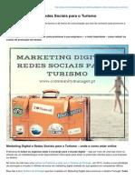 Marketing Digital e Redes Sociais Para o Turismo
