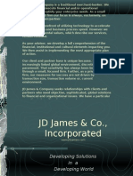 JD James & Company is a Traditional Merchant-banker. We Formulate