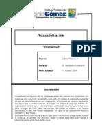 Informe administracion empoderaminto