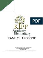 2009-10 KIPP Academy Elementary Family Handbook