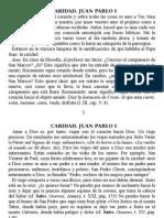 Caridad. Juan Pablo I