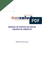 Ma Adm 03 Manual Politica de Uso de Equipos de Computo 1 Copia