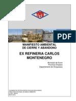 Manifiesto Ambiental Exrefineria Carlos Montenegro2
