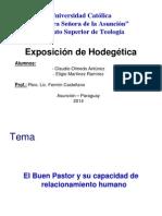 Exposición de Hodegética, El Buen Pastor y Su Capacidad de Relacionamiento Humano. 2014