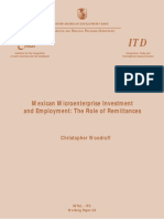 Mexican Microenterprise Investment and Employment- The Role of Remittances