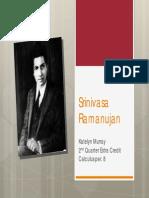 Ramanujan short biography