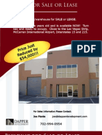Las Vegas Warehouse For Sale or Lease - Ware house
