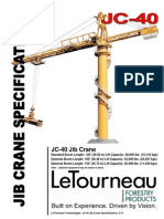LeTourneau JC-40 Jib Crane Specifications