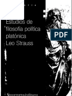 Strauss, Leo - Estudios de Filosofia Politica Platónica Ed. Amorrortu 2008