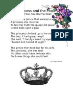 Rhythm and Rhyme Princess and the Pea Poem